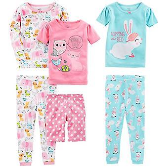 Simple Joys by Carter's Girls' Little Kid 6-Piece Snug Fit Cotton Pajama Set,...