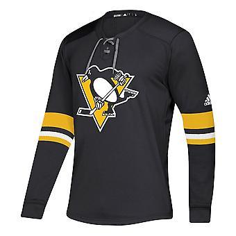Adidas Nhl Pittsburgh Penguins Platinum Ls Jersey Tee