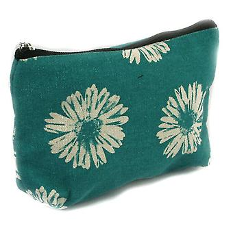 Svart ingefära make up bag kompakt toalettartiklar Semester Resor Gerbera