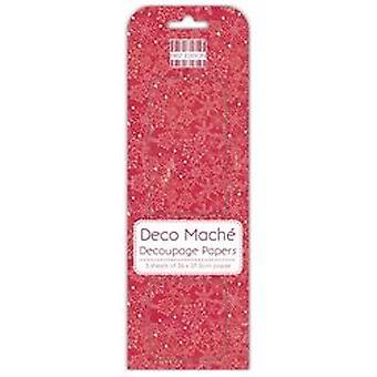 First Edition FSC Deco Mache Nordic Snowflakes