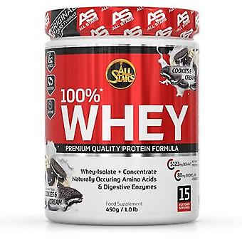 All Stars 100% biscuits and whey protein cream 450 gr
