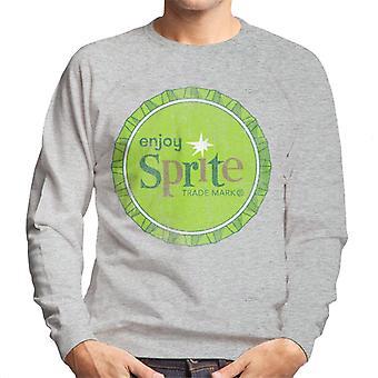 Geniet van Sprite 1960 Green Bottlecap heren Sweatshirt