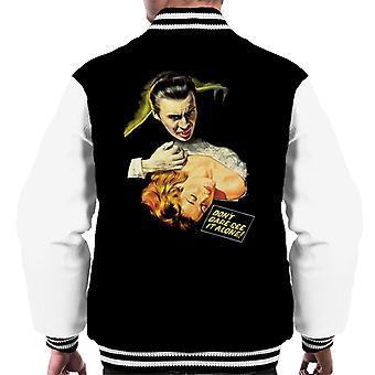 Hammer Horror films Dracula Bite dont durven zien het alleen mannen ' s Varsity Jacket