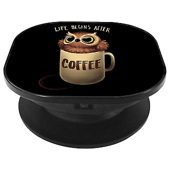 Life Begins After Coffee Night Owl Phone Grip