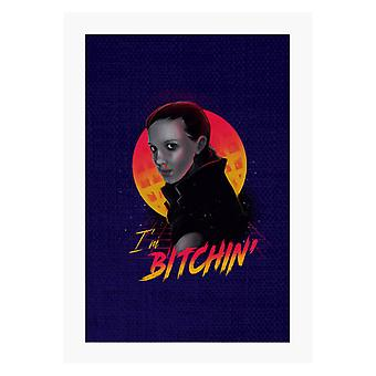 Im Bitchin Eleven Stranger Things Season 2 A4 Tulosta