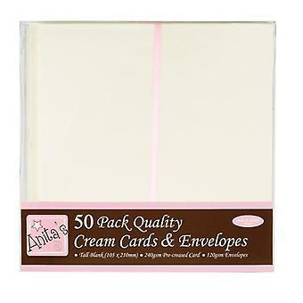 Anita's Tall Cards & Enveloppes Crème (50pk) (ANT 1513021)