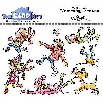 Kortet Hut Vinter Whippersnappers tydliga frimärken