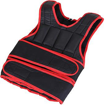 HOMCOM 20kg Men Or Women Waist Trainer Vest Adjustable Weighted w/ 38 Weight Bags  Easy Use Cardio Running Fitness Black Red For Weight Loss Exercise Workout