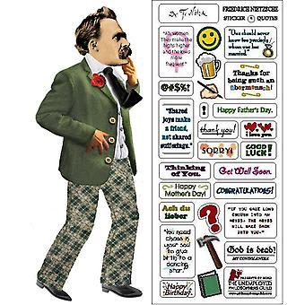 Briefpapier - Nietzsche - Kaart en Sticker vel Nieuw 0208