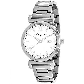 345, Mathey Tissot hombres 'S H410Ai reloj de plata de cuarzo