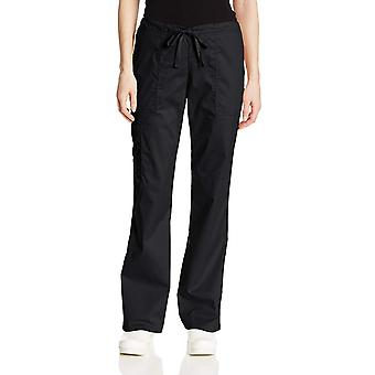 Cherokee Women's Workwear Core Stretch Drawstring Cargo Scrubs Pant, Black, X...