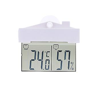 Digital Window Thermometer Temperature Humidity Display