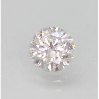 認定 0.46 カラット E SI1 ラウンド ブリリアント エンハンスナチュラル ルーズ ダイヤモンド 4.87mm