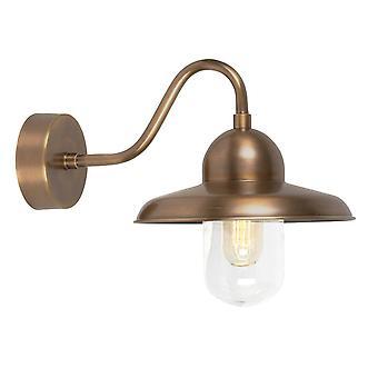 1 Light Outdoor Fisherman Dome Wall Light Brass IP44, E27