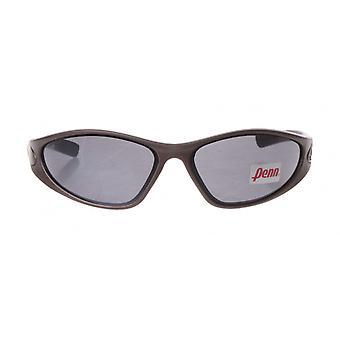 sportzonnebril unisex bruin/zwart met grijze lens