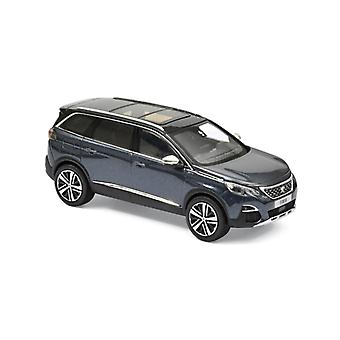 Peugeot 5008 GT (2016) in Bourrasque Blue (1:43 scale by Norev 473889)