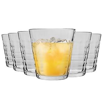 Duralex Prisme Drinking Glasses - 275ml Tumblers for Water, Juice - Clear - Pack of 6