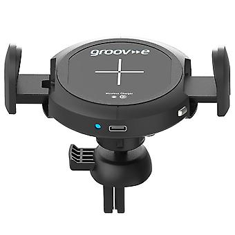 Groov-e 10W Wireless Car Mount In-Car Phone Holder with Wireless Charging GVWM6B