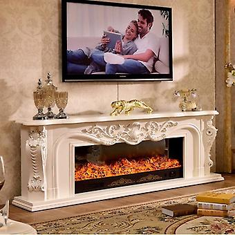 Living Room Decorating Warming Fireplace Wooden Mantel Led Optical Artificial Flame