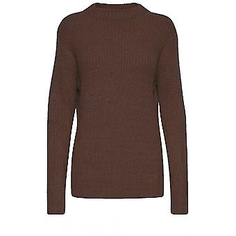 b.young Nora Brown Ribbed Jumper