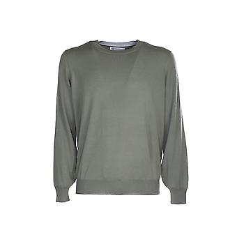 Brunello Cucinelli M2400100cw715 Men's Green Wool Sweater