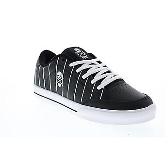 Circa AL50  Mens Black Leather Skate Inspired Sneakers Shoes