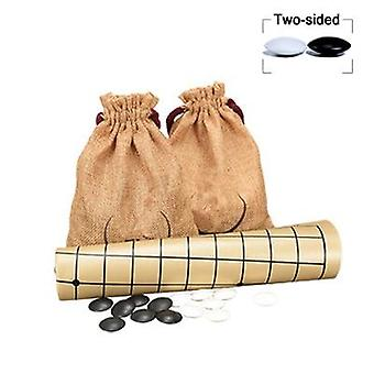 Weiqi Go Game- Melamine Pieces Suede Leather Cloth Bags, Gobang International