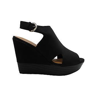 Chinese Laundry Women's Shoes Isley NuBuck Peep Toe Casual Platform Sandals