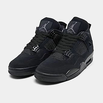 Air Jordan Retro 4 Black Mens Basketball Fashion Sneaker