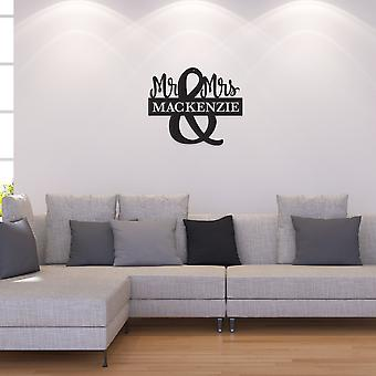 Mr. And Mrs. Monogram  Metal Wall Art/decor