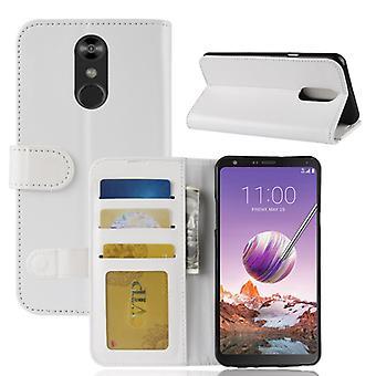 Voor LG Stylol 4 Crazy Horse Texture horizontale flip lederen PU + TPU case met portemonnee en Houder en houder Kaartsleuven (wit)