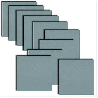 10 Navy Kings Blue Square Card Inserts 140 x 140