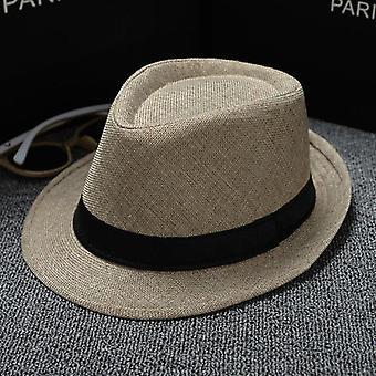 Vadonatúj Unisex Szalma Fe Sun Hat Panama Trilby Zúzható Férfi Lady Összecsukható