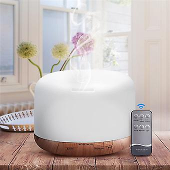 500ML Ultrasonic Air Humidifier Essential Oil Diffuser Fogger Humidifier LED Lamp Aroma Diffuser Electric