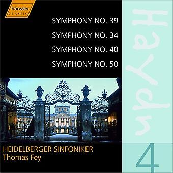 J. Haydn - Haydn: Symphonies Nos. 39, 34, 40, 50 [CD] USA import