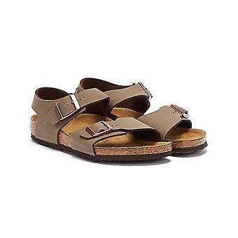 Birkenstock Nowy Jork Birko-Flor Mocha sandały dla dzieci