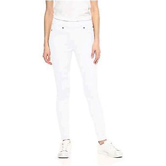 Essentials Frauen's Standard farbige skinny Pull-On Jegging, weiß, 4 kurz