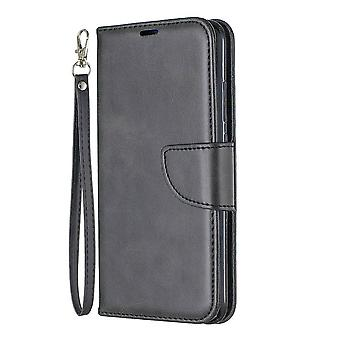 Stativstøtte og full beskyttelse saueskinn lærveske, lommebokdeksel