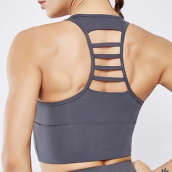 Shockproof beautiful back horizontal yoga bra Q60