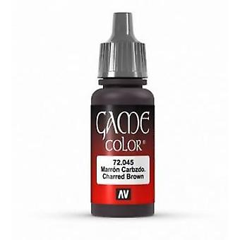 Vallejo Game Color 17ml Acrylic Paint 45 Charred brown