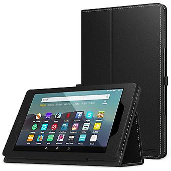 Moko case fits kindle fire 7 tablet (9th generation, 2019 release), premium pu leather slim folding