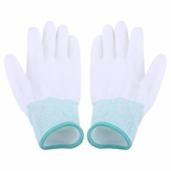 Anti statické, Antiskid rukavice, Pu potiahnuté, Prst časť čisté rukavice, Pletené, Anti