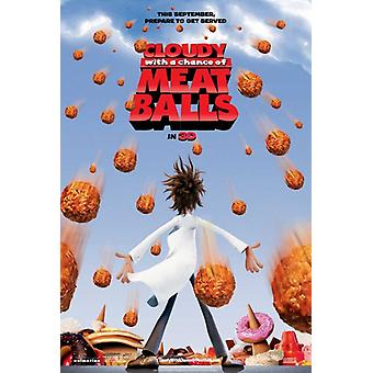 Cloudy with a Chance of Meatballs Movie Poster Print (27 x 40)