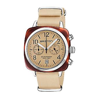 Briston 20140.SA.T.39.NTV Clubmaster Classic Terracotta Acetate Wristwatch Cream