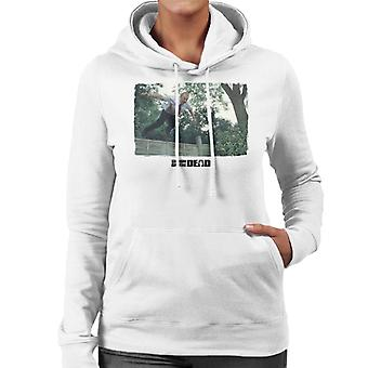 Shaun of the Dead Jumping Over Fence Women's Hooded Sweatshirt