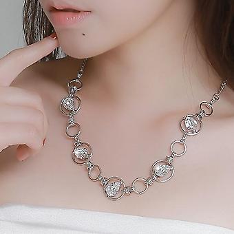 Mika Silber Halskette mit Swarovski-Kristallen