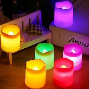 Led Candle Multicolor Lamp Simulation Color Flame Flashing Tea Light