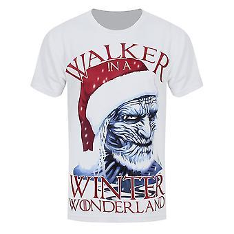 Grindstore Mens Walker In A Winter Wonderland Joulu T-paita