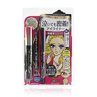 Heroine Make Long & Curl Mascara Advanced Film + Smooth Liquid Eyeliner Set - #01 Black - 2pcs
