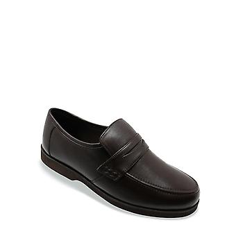 Chums Mens Leather Wide Fit Moccasin Shoe
